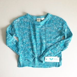 Roxy Girl Caribbean Sea Open Knit Sweater Sz 7